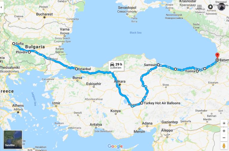 Ruta Sofia-Batumi